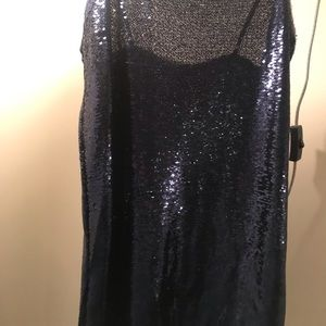 Free People Dresses - Time to shine slip dress in navy